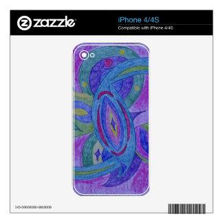 Diseño enrrollado, retro skin para el iPhone 4S