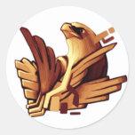 Diseño épico #1 de Eagle Etiqueta Redonda