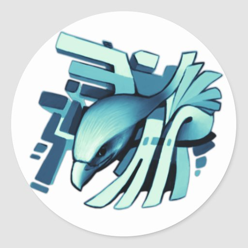 Diseño épico #2 de Eagle Pegatina Redonda
