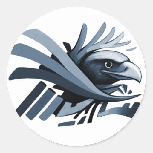 Diseño épico #6 de Eagle Pegatina Redonda