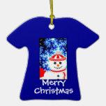 Diseño ESCARCHADO del ornamento del muñeco de niev Adorno De Navidad