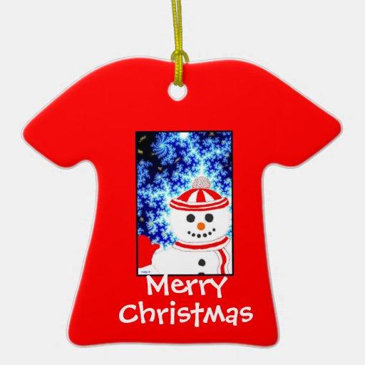 Diseño ESCARCHADO del ornamento del muñeco de niev Adornos De Navidad
