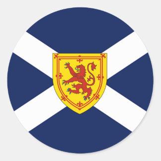 Diseño escocés de la bandera pegatina redonda