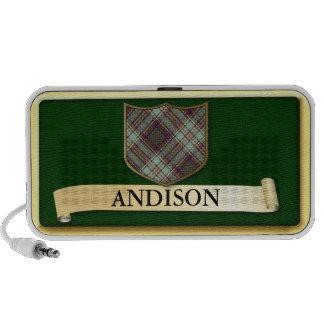 Diseño escocés del tartán - Andison- personaliza Mini Altavoces