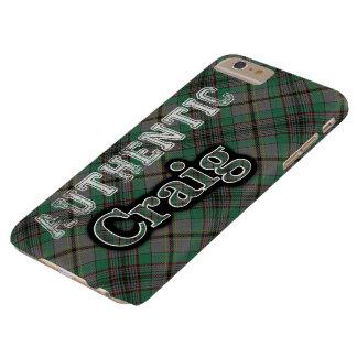 Diseño escocés del tartán de Craig del clan Funda Para iPhone 6 Plus Barely There
