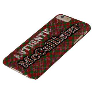 Diseño escocés del tartán de McCallister del clan Funda Para iPhone 6 Plus Barely There