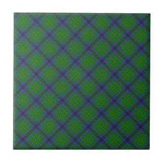 Diseño escocés del tartán del clan de Johnstone Azulejo Cuadrado Pequeño