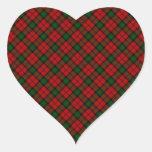 Diseño escocés del tartán del clan de Kerr Pegatina Corazón