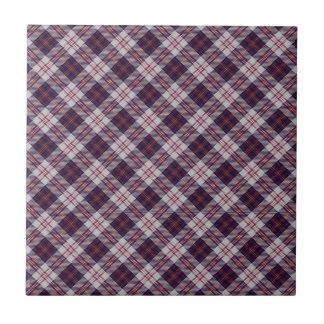 Diseño escocés del tartán del clan del caminante azulejo cuadrado pequeño