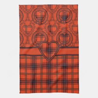 Diseño escocés del tartán del corazón de Wemyss de Toalla De Mano