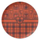 Diseño escocés del tartán del corazón de Wemyss Platos