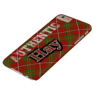 Diseño escocés del tartán del heno auténtico del funda barely there iPhone 6 plus