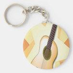 Diseño español de la guitarra llavero personalizado