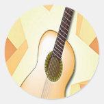 Diseño español de la guitarra pegatina redonda