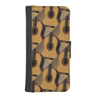 Diseño español de las guitarras en el caso fundas billetera de iPhone 5