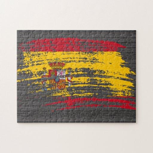 Diseño español fresco de la bandera puzzles