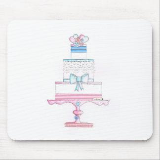 diseño especial del pastel de bodas con el cordón mousepads