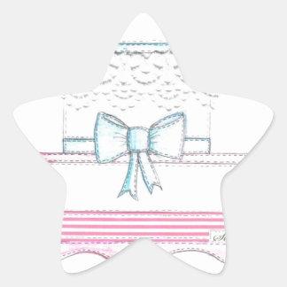 diseño especial del pastel de bodas con el cordón pegatina en forma de estrella