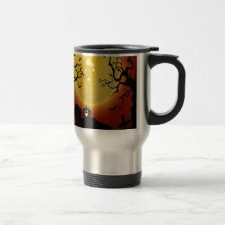 Diseño espeluznante de los árboles tazas de café