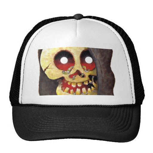 Diseño espeluznante del cráneo gorros