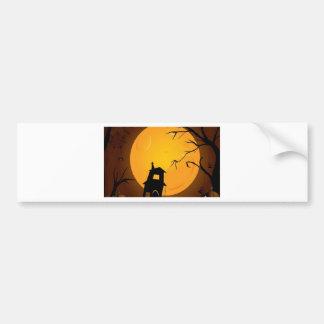 Diseño espeluznante del fondo de Halloween Etiqueta De Parachoque