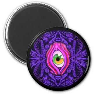Diseño espeluznante del ojo del vintage imán redondo 5 cm