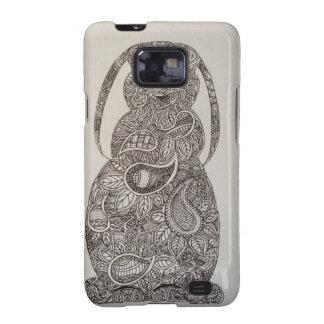 Diseño espigado del conejo del Lop Samsung Galaxy SII Carcasas