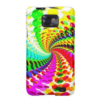 Diseño espiral abstracto/psicodélico: samsung galaxy s2 carcasa