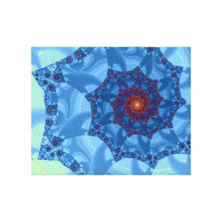 Diseño espiral azul bonito del carámbano lona estirada galerias