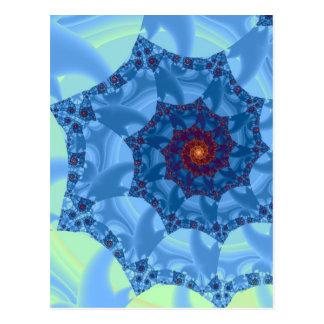 Diseño espiral azul bonito del carámbano postales