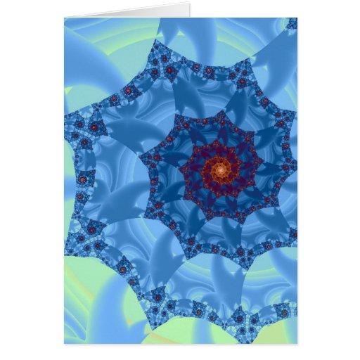 Diseño espiral azul bonito del carámbano felicitación