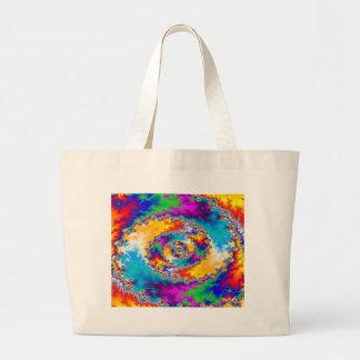 Diseño espiral colorido: bolsa tela grande