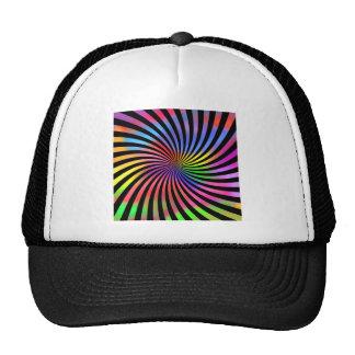 Diseño espiral colorido gorras de camionero