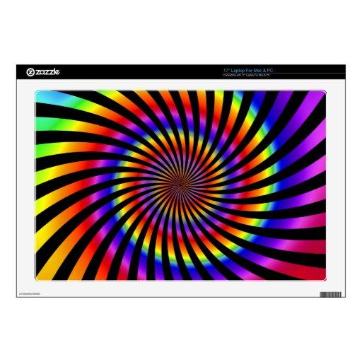 Diseño espiral colorido: skins para 43,2cm portátiles