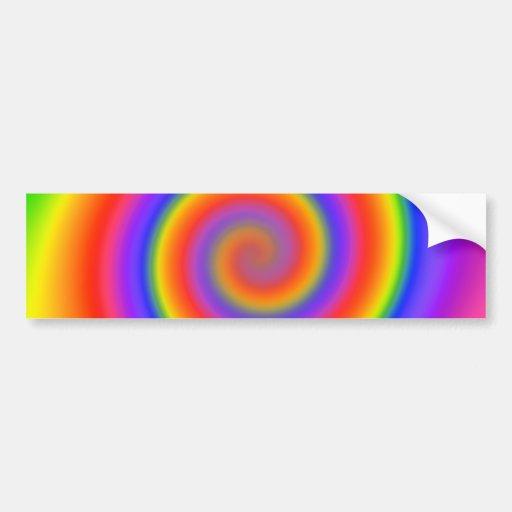 Diseño espiral colorido: pegatina de parachoque