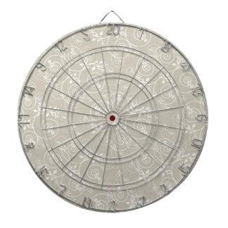 Diseño espiral con el fondo de la tela del moreno tablero de dardos