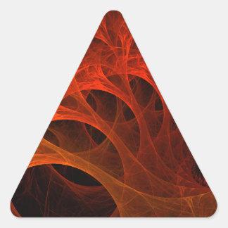 Diseño espiral del fractal pegatina triangular
