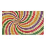 Diseño espiral maravilloso del remolino del rayo d tarjetas de visita
