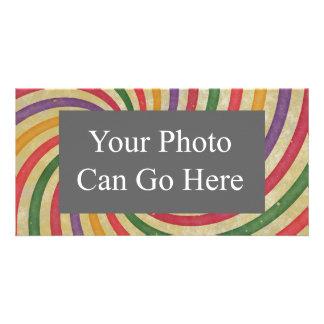 Diseño espiral maravilloso del remolino del rayo tarjetas con fotos personalizadas