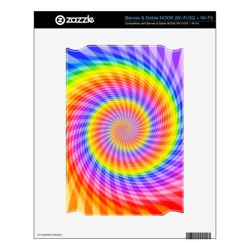 Diseño espiral psicodélico: NOOK skin