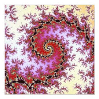 Diseño espiral rojo doble del fractal foto