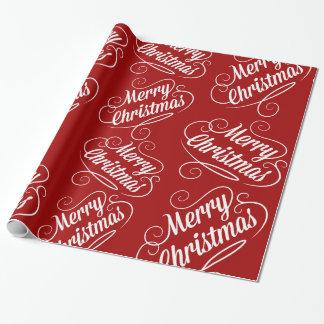 Diseño estacional rojo del día de fiesta de las papel de regalo