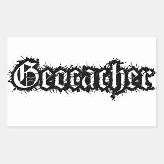 Diseño estático de Geocacher Pegatina Rectangular