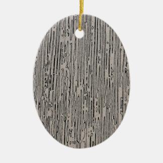Diseño estático del estilo del metal moderno en el adorno navideño ovalado de cerámica