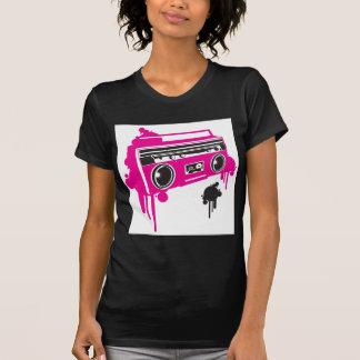 diseño estéreo del arenador retro del ghetto camiseta