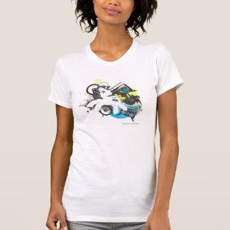 Diseño estéreo retro camiseta