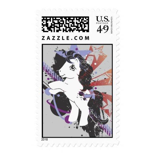 Diseño estéreo retro sellos