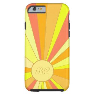 Diseño estilizado de Sun Funda De iPhone 6 Tough