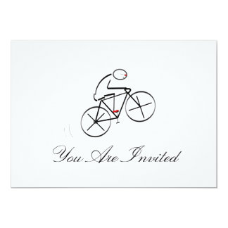 """Diseño estilizado del Bicyclist Invitación 5"""" X 7"""""""