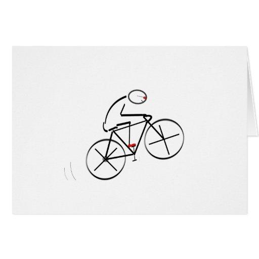 Diseño estilizado del Bicyclist Tarjetas